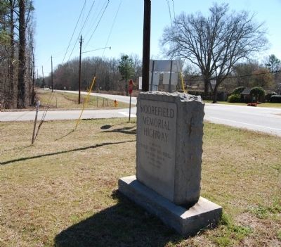 Moorefield Memorial Highway Marker -<br>Looking East from Marker image. Click for full size.