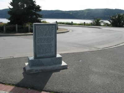"Wide View of Back of Pony Express Ferry ""Carquinez"" Marker image. Click for full size."