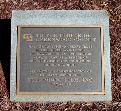 To The People of Greenwood County Marker image. Click for full size.