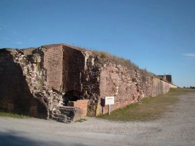 A Corner of Five-Sided Fort Caswell image. Click for full size.