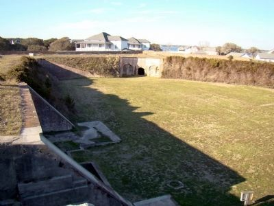 Inside Fort Caswell image. Click for full size.