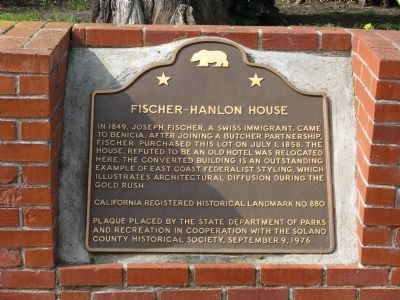 Fischer-Hanlon House Marker image. Click for full size.