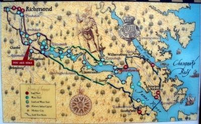 Map of Captain John Smith's Trail. image. Click for full size.