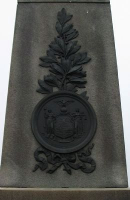 State Seal and Branch on Front of Monument image. Click for full size.