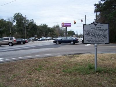 Snee Farm Marker, at intersection US 17 and Long Point Rd. ( SC 10-97 ) image. Click for full size.