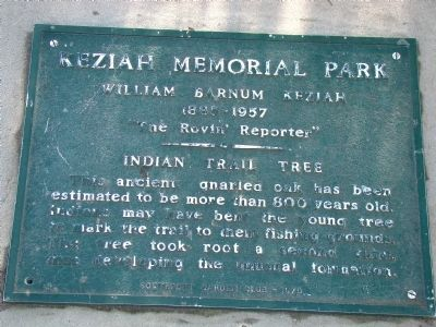 Indian Trail Tree Marker image. Click for full size.