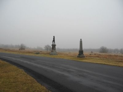General Gibbon Memorial and 121st Pennsylvania Monument image. Click for full size.