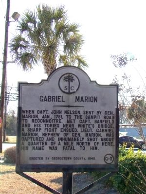 Gabriel Marion Marker image. Click for full size.