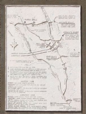 Battle of Brier Creek - Map close-up image. Click for full size.