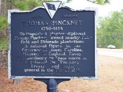 Thomas Pinckney Marker image. Click for full size.