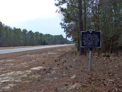 St. James Santee Marker looking south along US17 image. Click for full size.