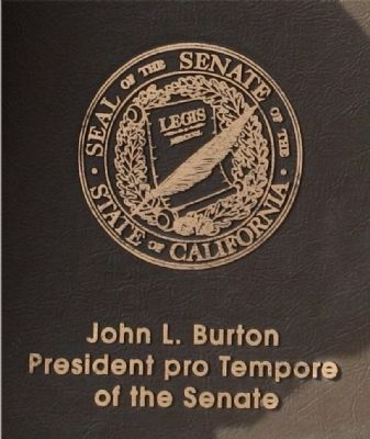 The Great Seal of the Senate Engraved on Marker image. Click for full size.