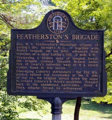Featherston's Brigade Marker image. Click for full size.