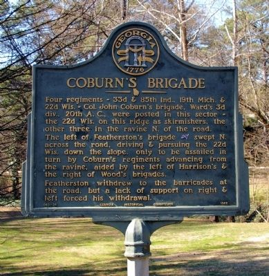 Coburn's Brigade Marker image. Click for full size.