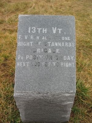 13th Vermont Marker image. Click for full size.