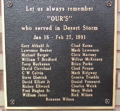Newcomerstown Desert Storm Memorial image. Click for full size.