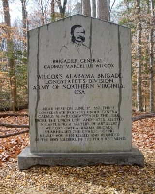 Wilcox's Alabama Brigade Monument image. Click for full size.
