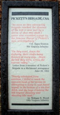Pickett's Brigade, CSA Marker image. Click for full size.