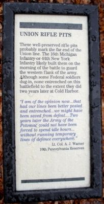 Union Rifle Pits Marker image. Click for full size.