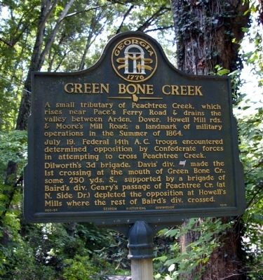 Green Bone Creek Marker image. Click for full size.