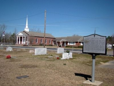 Pleasant Hill Baptist Church and Marker image. Click for full size.