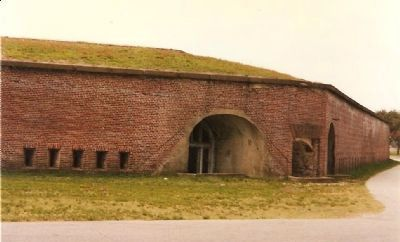 Fort Caswell Sally Port image. Click for full size.