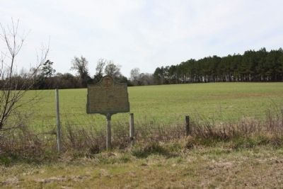 Washington Slept Here Marker, at edge of open field looking west image. Click for full size.