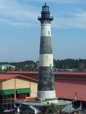 Replica of the Morris Island Lighthouse image. Click for full size.