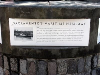Sacramento's Maritime Heritage Marker image. Click for full size.