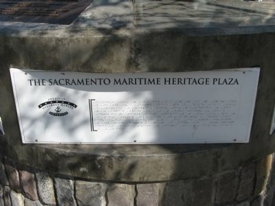 A Second Sacramento's Maritime Heritage Marker image. Click for full size.