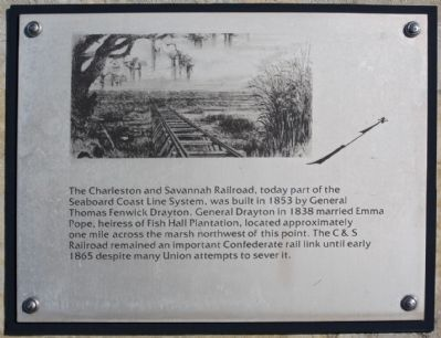 Interpretive Marker along Ft. Walker Drive, image. Click for full size.