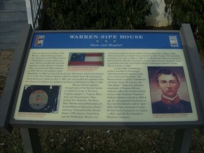 Warren-Sipe House Marker image. Click for full size.