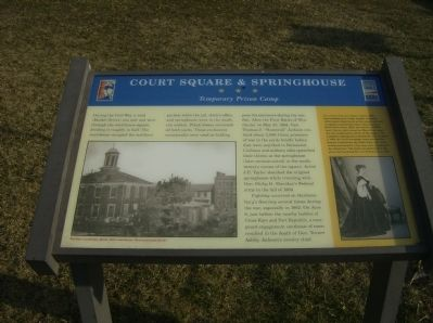Court Square & Springhouse Marker image. Click for full size.