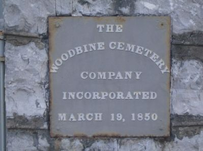 The Woodbine Cemetery Marker image. Click for full size.