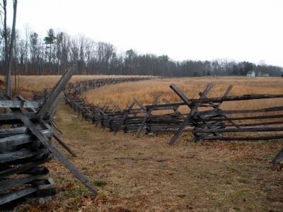 Gaines' Mill Battlefield west of the Watt House. image. Click for full size.