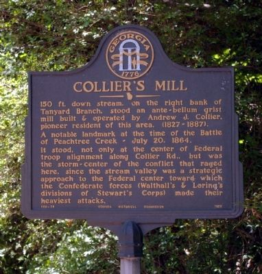 Collier's Mill Marker image. Click for full size.