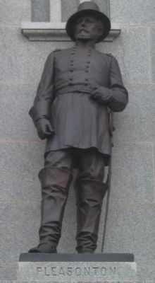 Statue of General Pleasonton on Pennsylvania Monument image. Click for full size.