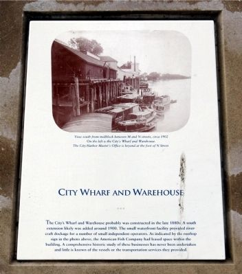 City Wharf and Warehouses Marker image. Click for full size.