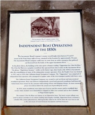 Independent Boat Operations of the 1850s Marker image. Click for full size.