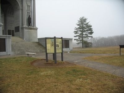 Kiosk at Front of the Pennsylvania Memorial image. Click for full size.