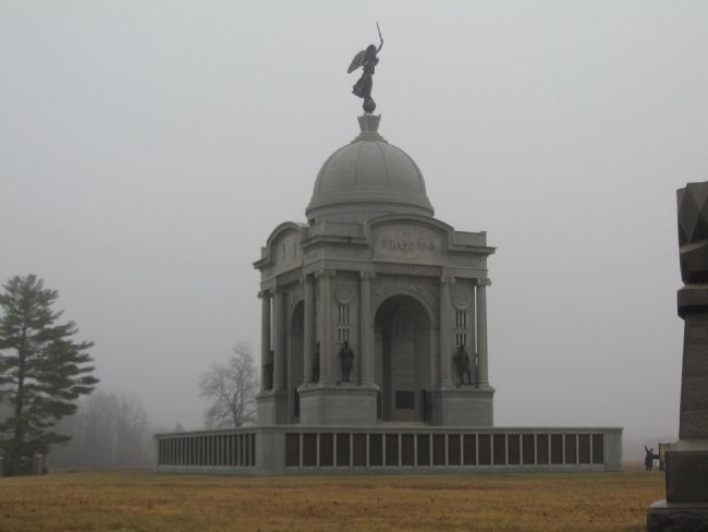 Pennsylvania Memorial on a Misty Day image. Click for full size.