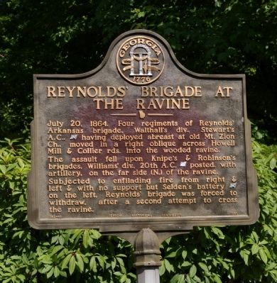 Reynolds' Brigade at the Ravine Marker image. Click for full size.