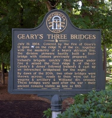 Geary's Three Bridges Marker image. Click for full size.