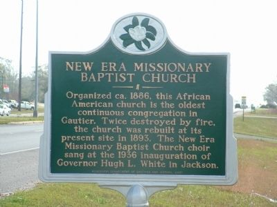 New Era Missionary Baptist Church Marker image. Click for full size.