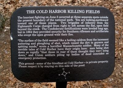 The Cold Harbor Killing Fields Marker image. Click for full size.
