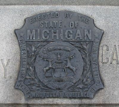 State Seal at Front of the Monument image. Click for full size.