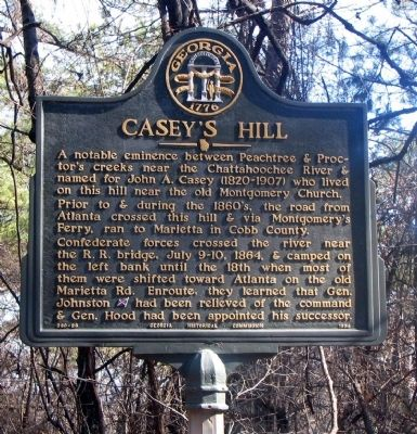 Casey's Hill Marker image. Click for full size.