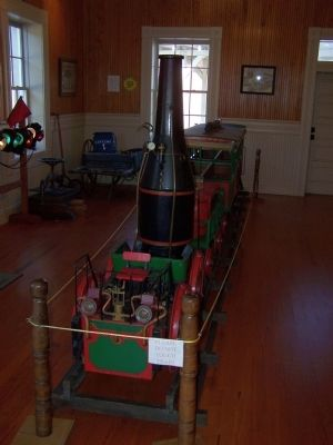 "Branchville Depot Displays Replica of ""Best Friend of Charleston"" as Mentioned on Marker image. Click for full size."