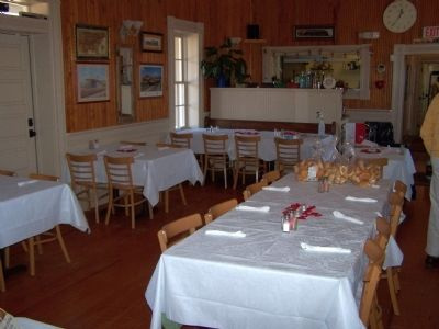Branchville Depot Dining Room as Mentioned on Marker image. Click for full size.