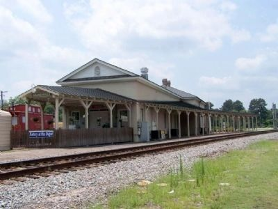 Branchville Depot looking west, trackside image. Click for full size.